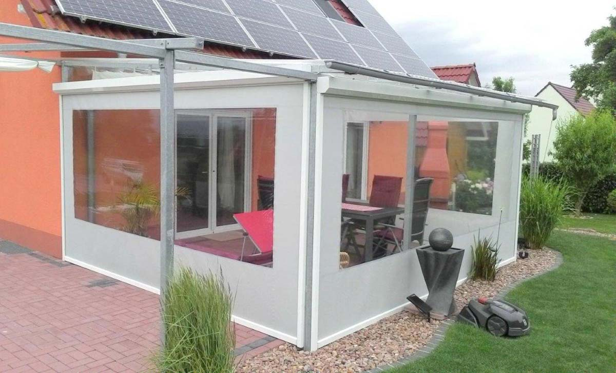 wundersch nen regenschutz terrasse haus design ideen. Black Bedroom Furniture Sets. Home Design Ideas