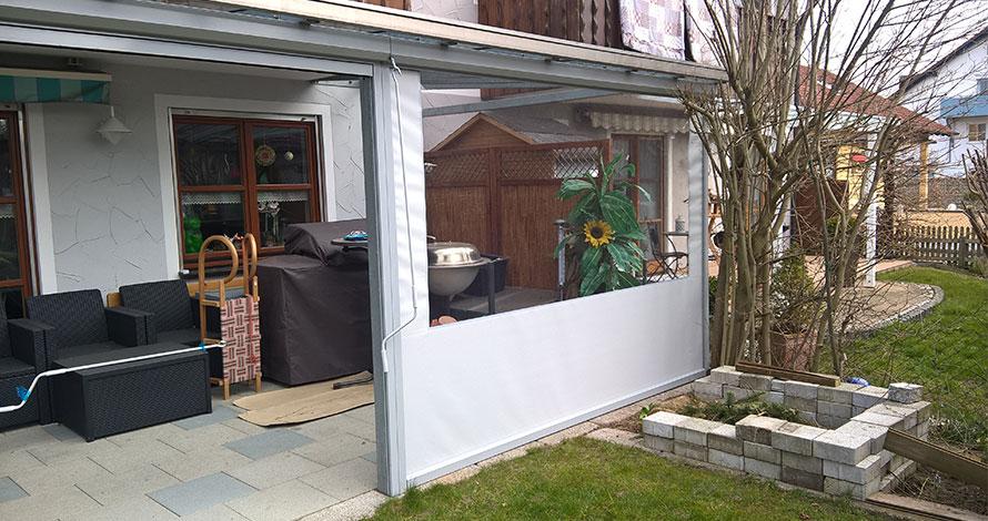 Folienrollos für Terrassen