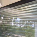 plissierte Folie als Sonnenschutz